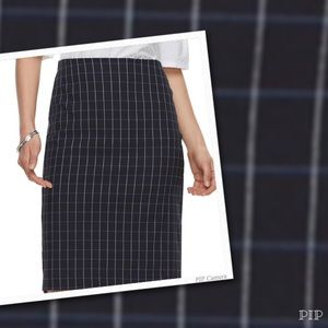 0ab5ac6a44696 Plus Size ELLE Pull-On Navy Grid Pencil Skirt